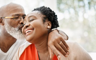 couple happy about getting a hybrid life insurance with long term care policy