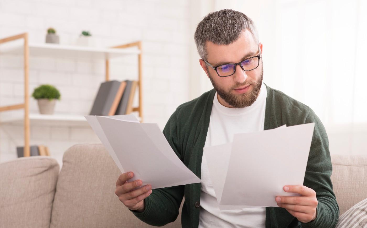 A man making sense of insurance words.