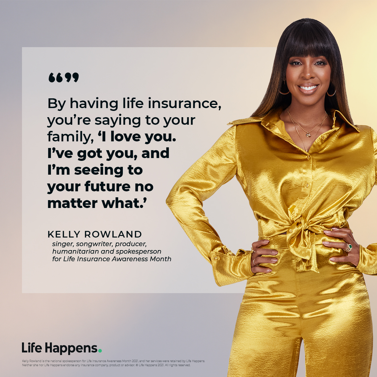 Kelly Rowland with quote